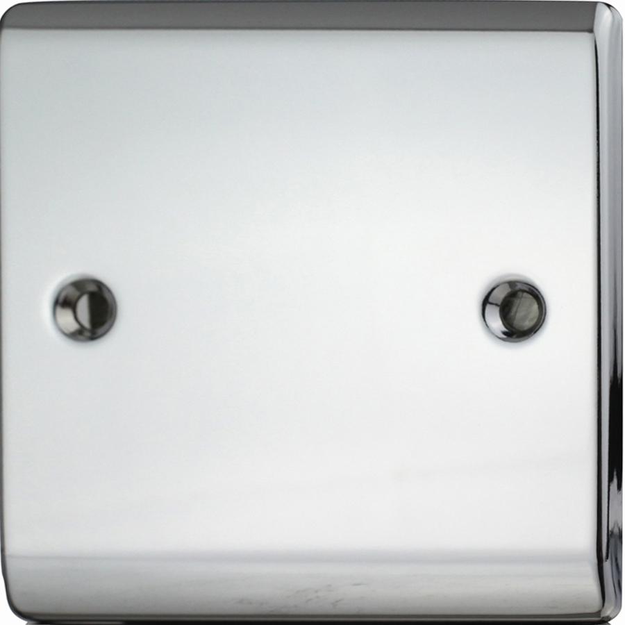 Premspec 1G Blank Plate Polished Chrome