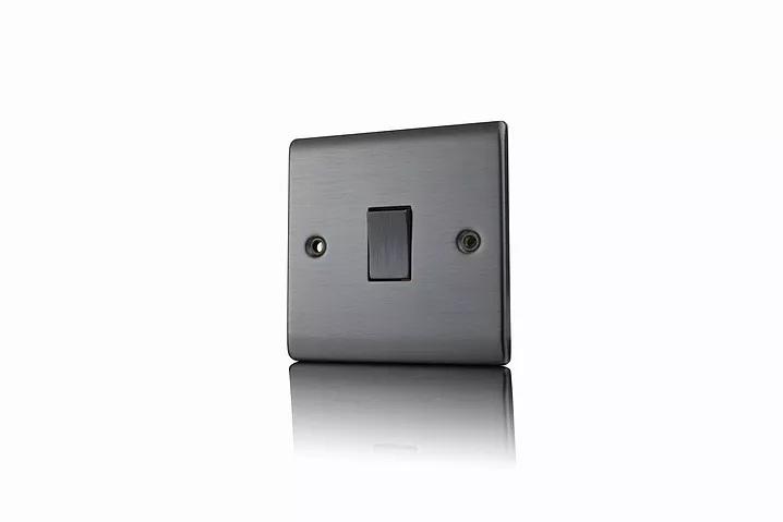 Premspec 1G 2W 10AX Switch Satin Nickel