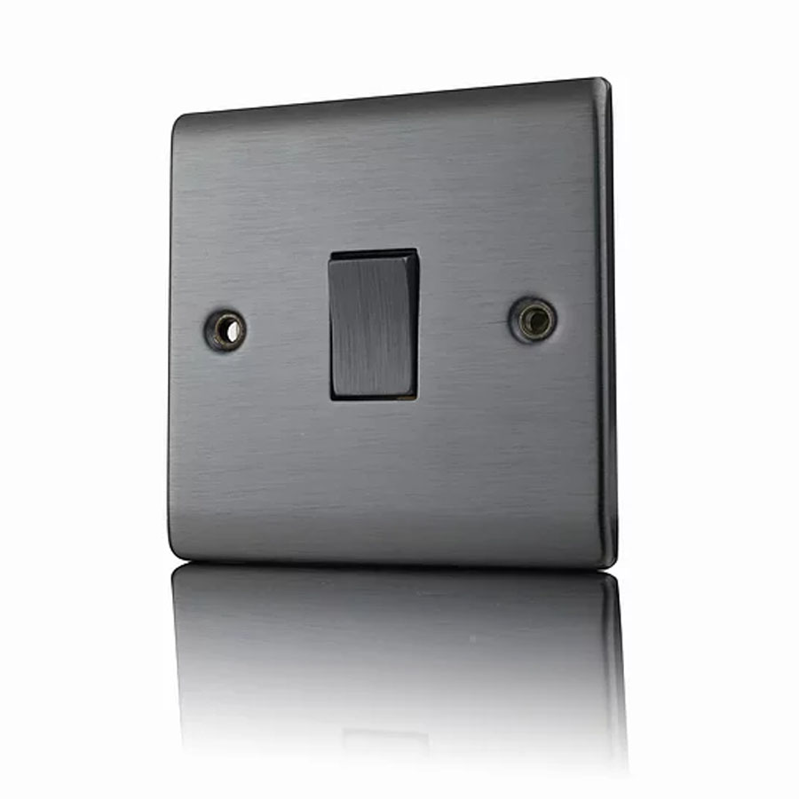 Premspec 1 Gang 2W 10AX Switch Satin Nickel