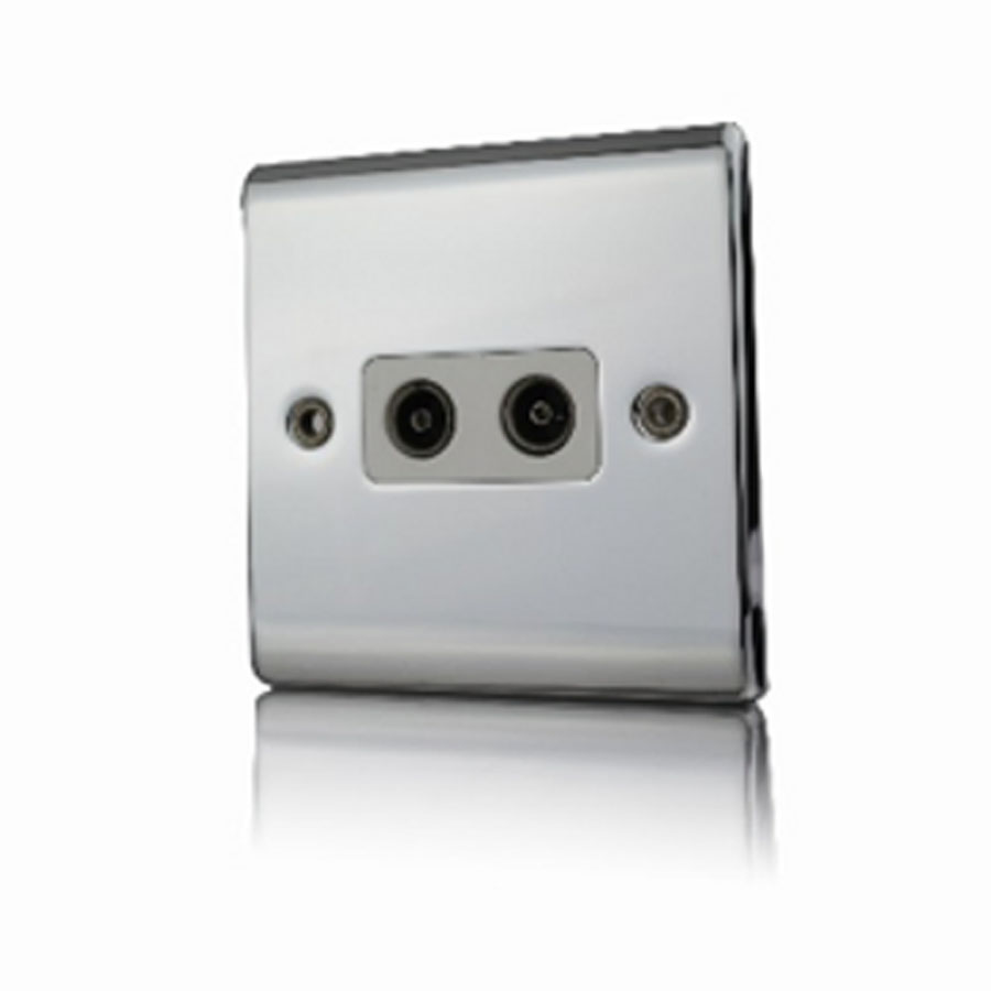 Premspec 2G Co-axial Socket Polished Chrome