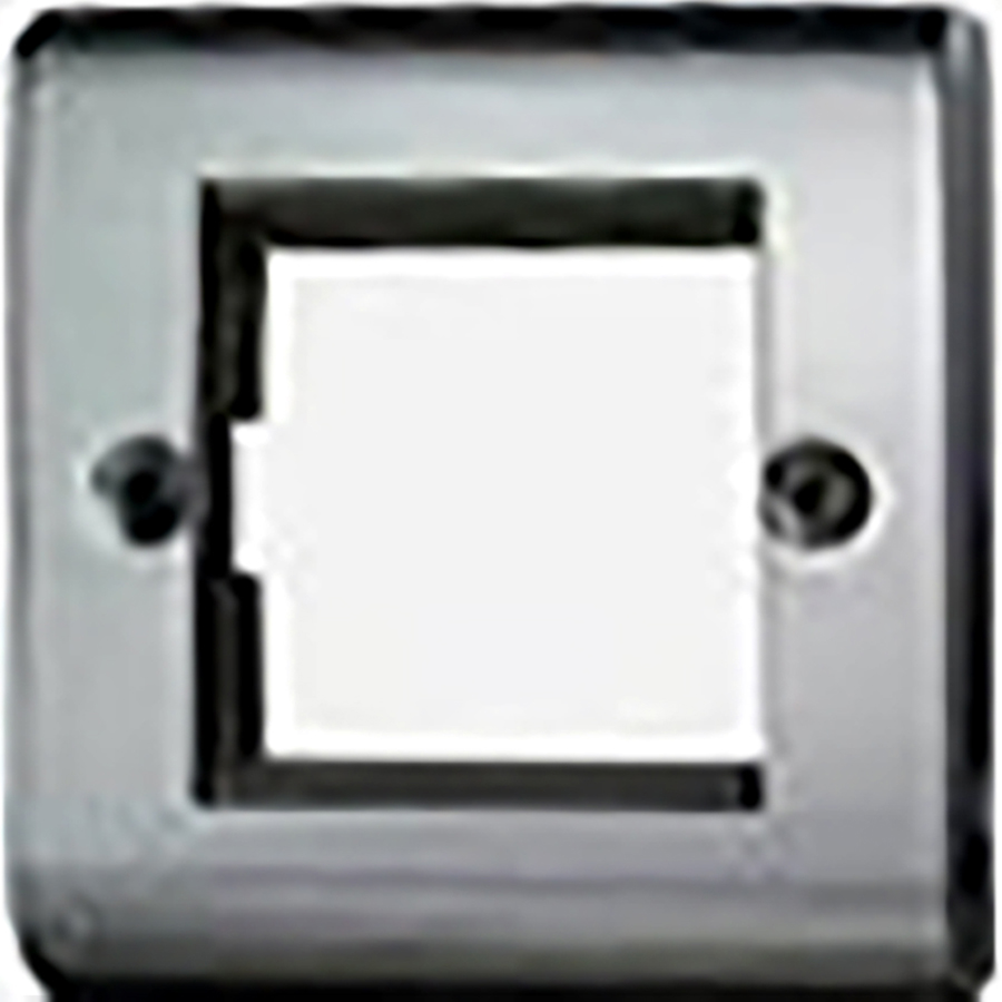 Premspec 2 Module Plate + Earth Black Nickel