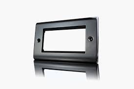 Premspec 3 Module Plate + x 2 Earth Black Nickel