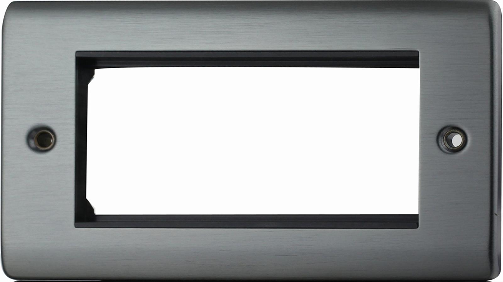 Premspec 4 Module Plate + x2 Earth Satin Nickel