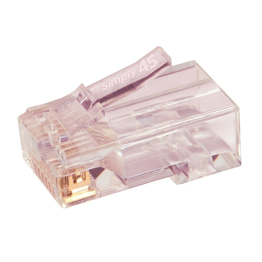 Simply45 Unshielded Pass Through RJ45 Modular Plugs for Cat6/6a UTP (100 pieces)