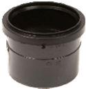 Soil Ring Single Socket PF/Solvent Coupler 110mm - Black