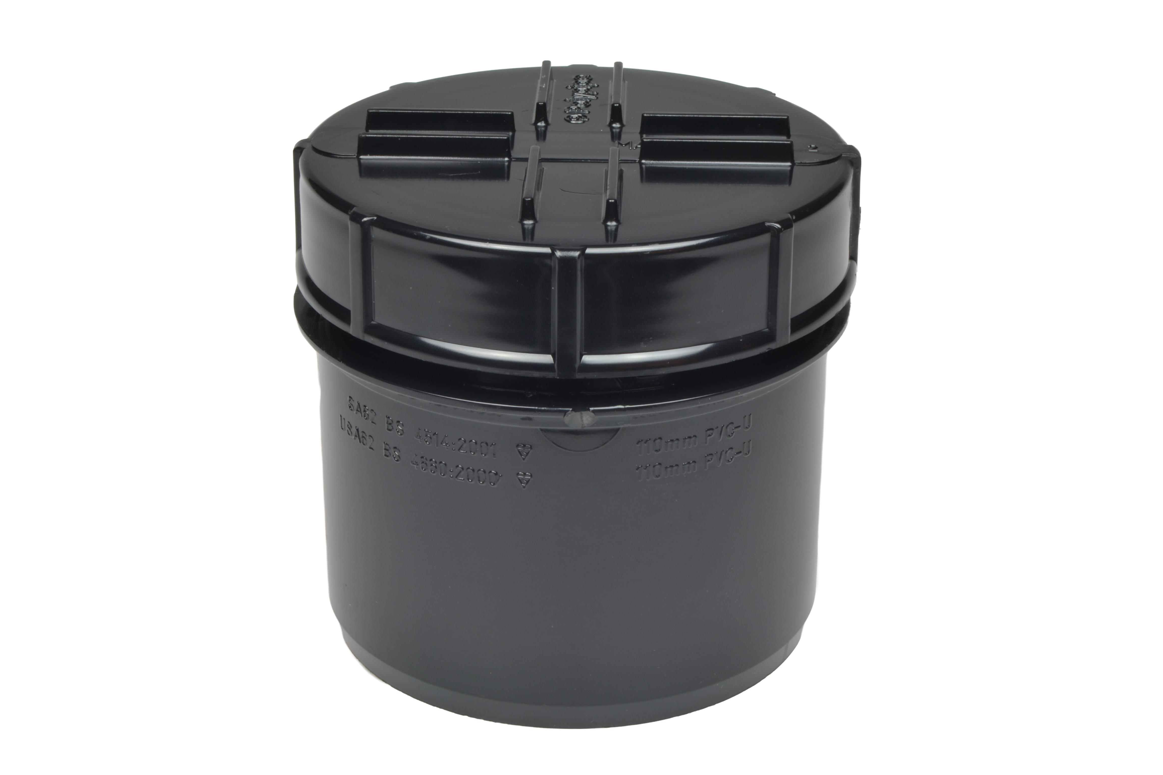 110mm Screwed Access Cap - Black