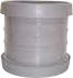 Soil Ring Double Socket Coupler 110mm - Light Grey