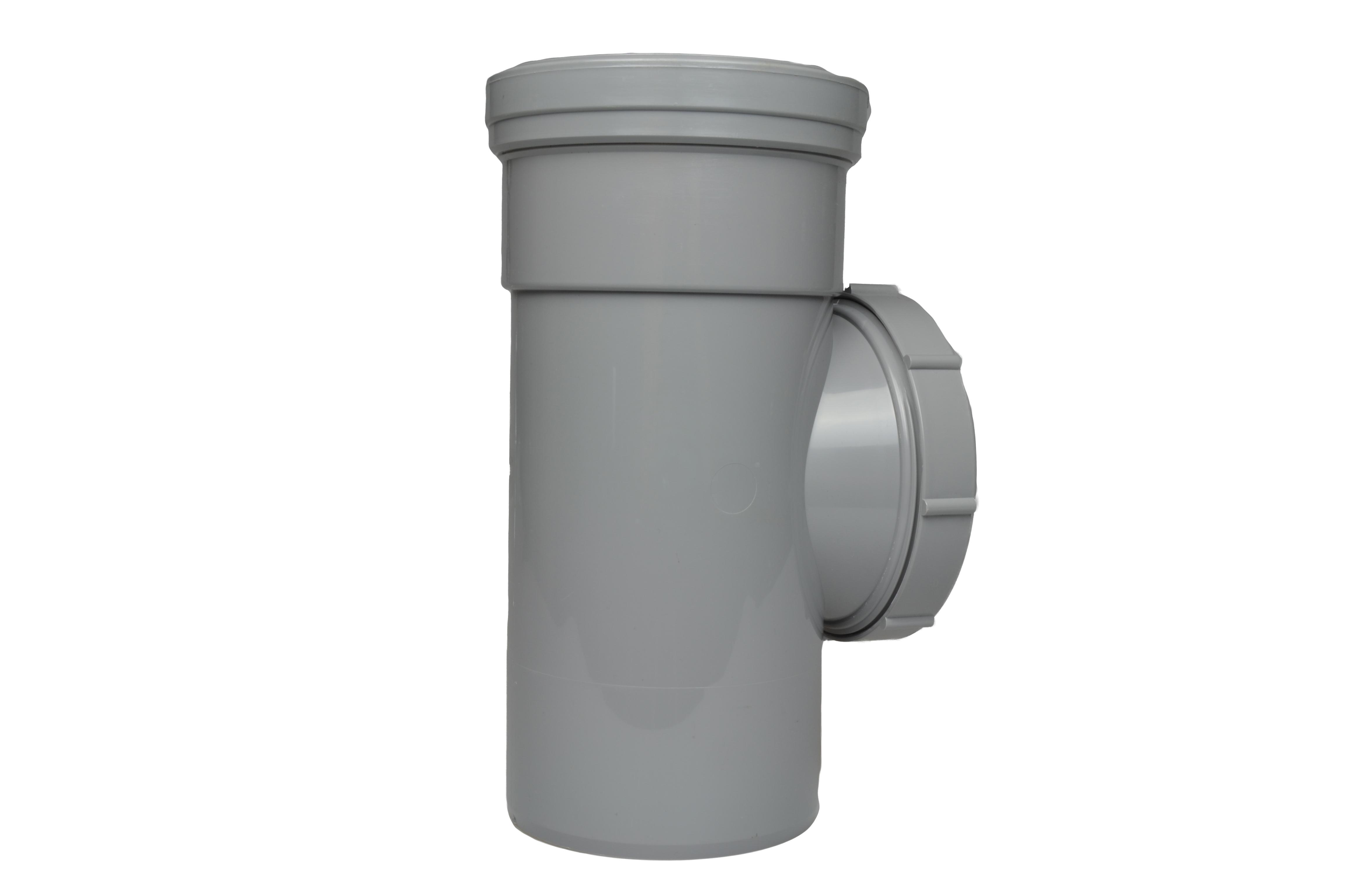 Soil Ring 92 Single Socket Access Pipe 110mm - Light Grey