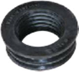 63x40mm Internal Soil/Solvent Boss Adaptor - Black