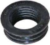 63x50mm Internal Soil/Solvent Boss Adaptor - Black