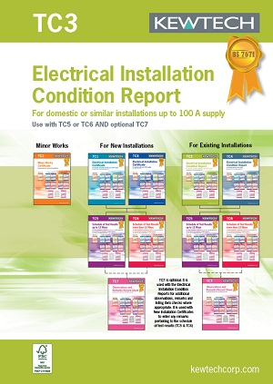 KEWTECH TC3 Elect. Installation condition report for up to 100A Supply