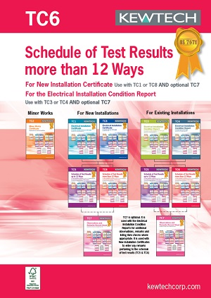 KEWTECH TC6 Schedule of Test results 36 Ways