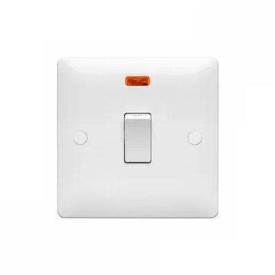 Verso 20Amp 1 Gang Switch DP with Neon