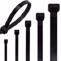 Miniature Range Cable Tie Black 100mm