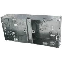 Dual 2 Gang 35mm metal box
