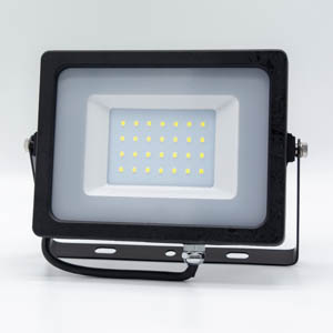 V-TAC 30W LED Floodlight Black Body SMD 6400K
