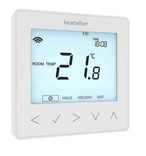 Heatmiser neoStat 12v V2 - Programmable Thermostat Glacier White