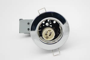 Pressed Steel Fire-Rated GU10 Fixed Downlight (Polished Chrome)