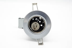 Pressed Steel Fire-Rated GU10 Fixed Downlight (Brushed Chrome)