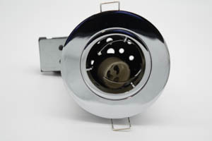 Die Cast Aluminium Fire-Rated GU10 Fixed Downlight (Polished Chrome)