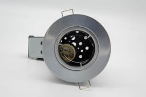 Die-Cast Aluminium Fire-Rated GU10 Fixed Downlight (Brushed Chrome)