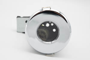 Die Cast Aluminium Shower IP65 Fire-Rated GU10 Fixed Downlight (Polished Chrome)
