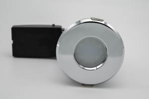 Die Cast Aluminium Shower IP65 Fire-Rated GU10 Fixed Downlight (Polished Chrome) with QuickBlock