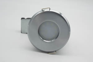 Die Cast Aluminium Shower IP65 Fire-Rated GU10 Fixed Downlight (Brushed Chrome)