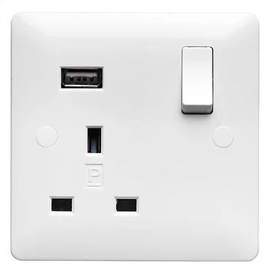 Verso 1G 13A DP USB SWITCH SKT